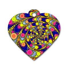 Wild Bubbles 1966 Dog Tag Heart (one Sided)