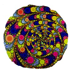 Wild Bubbles 1966 18  Premium Round Cushion