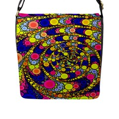 Wild Bubbles 1966 Flap Closure Messenger Bag (Large)
