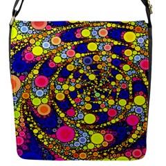 Wild Bubbles 1966 Flap Closure Messenger Bag (Small)