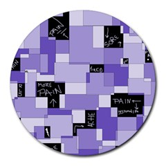 Purple Pain Modular 8  Mouse Pad (round)