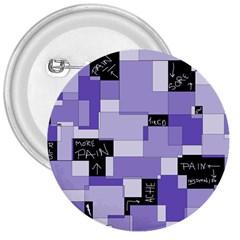 Purple Pain Modular 3  Button