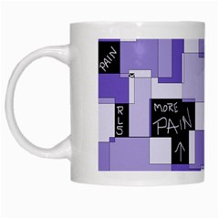 Purple Pain Modular White Coffee Mug
