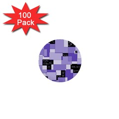 Purple Pain Modular 1  Mini Button (100 pack)