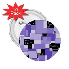 Purple Pain Modular 2.25  Button (10 pack)