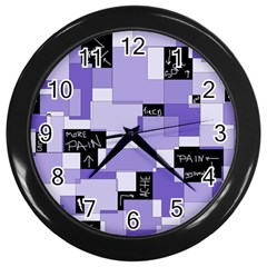 Purple Pain Modular Wall Clock (Black)