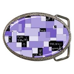 Purple Pain Modular Belt Buckle (oval)