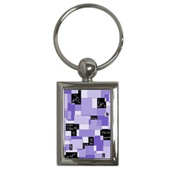 Purple Pain Modular Key Chain (Rectangle)