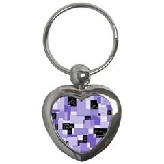 Purple Pain Modular Key Chain (Heart)