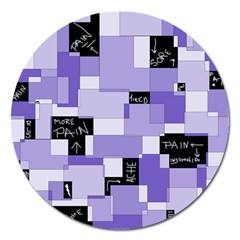 Purple Pain Modular Magnet 5  (Round)