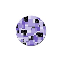 Purple Pain Modular Golf Ball Marker 4 Pack