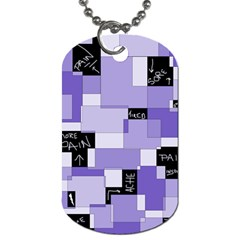 Purple Pain Modular Dog Tag (Two-sided)