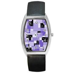Purple Pain Modular Tonneau Leather Watch