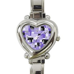 Purple Pain Modular Heart Italian Charm Watch