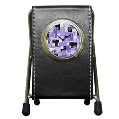 Purple Pain Modular Stationery Holder Clock