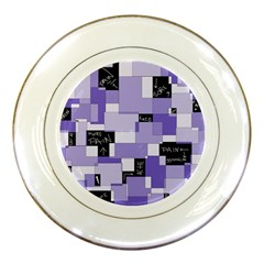 Purple Pain Modular Porcelain Display Plate