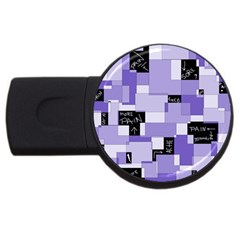 Purple Pain Modular 4gb Usb Flash Drive (round)