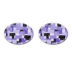 Purple Pain Modular Cufflinks (oval)