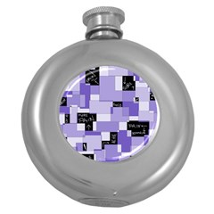Purple Pain Modular Hip Flask (round)