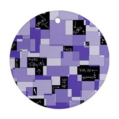 Purple Pain Modular Round Ornament (Two Sides)