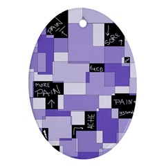 Purple Pain Modular Oval Ornament (Two Sides)