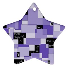 Purple Pain Modular Star Ornament (Two Sides)