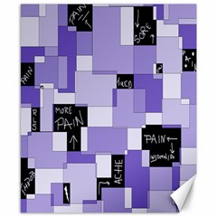 Purple Pain Modular Canvas 8  x 10  (Unframed)