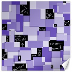 Purple Pain Modular Canvas 20  x 20  (Unframed)
