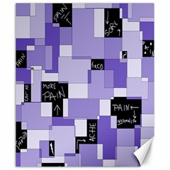 Purple Pain Modular Canvas 20  x 24  (Unframed)