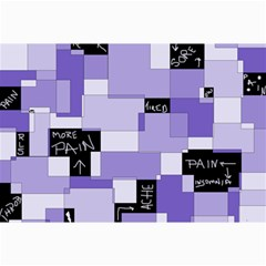 Purple Pain Modular Canvas 20  x 30  (Unframed)