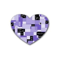 Purple Pain Modular Drink Coasters (Heart)