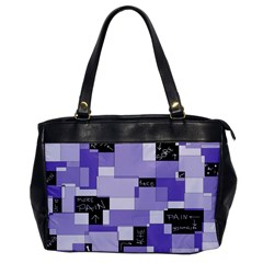 Purple Pain Modular Oversize Office Handbag (one Side)