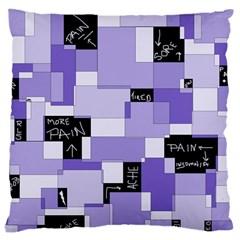 Purple Pain Modular Large Cushion Case (Single Sided)