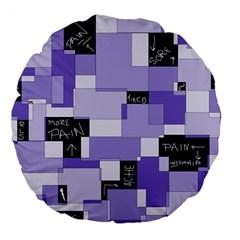 Purple Pain Modular 18  Premium Round Cushion