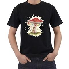 Shroom House Men s T Shirt (black)