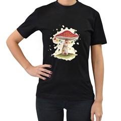 Shroom House Women s T Shirt (black)