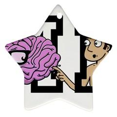 Poke Brain Me 2 Star Ornament (Two Sides)