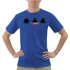 4 color squid Men s T-shirt (Colored)