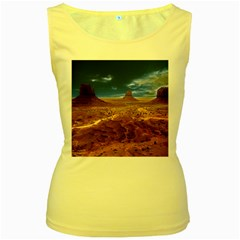 Monument Valley Women s Tank Top (yellow)