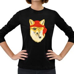 Foxy Pirate Women s Long Sleeve T-shirt (Dark Colored)