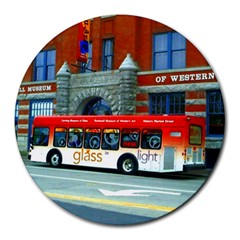 Double Decker Bus   Ave Hurley   8  Mouse Pad (Round)