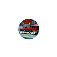 Double Decker Bus   Ave Hurley   1  Mini Button Magnet