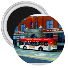 Double Decker Bus   Ave Hurley   3  Button Magnet