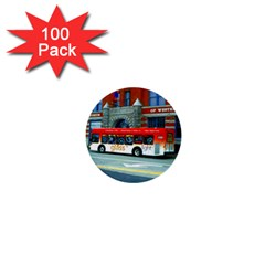 Double Decker Bus   Ave Hurley   1  Mini Button (100 Pack)