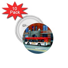 Double Decker Bus   Ave Hurley   1 75  Button (10 Pack)