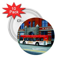 Double Decker Bus   Ave Hurley   2.25  Button (10 pack)