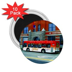 Double Decker Bus   Ave Hurley   2.25  Button Magnet (10 pack)