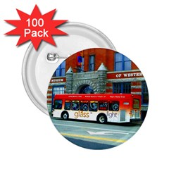 Double Decker Bus   Ave Hurley   2 25  Button (100 Pack)