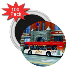 Double Decker Bus   Ave Hurley   2.25  Button Magnet (100 pack)
