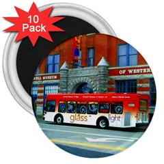 Double Decker Bus   Ave Hurley   3  Button Magnet (10 pack)